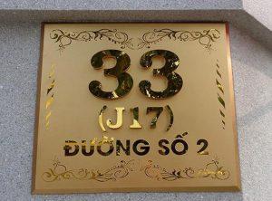 Biển số nhà được đơn vị cho ra đời dựa trên quy trình chuyên nghiệp